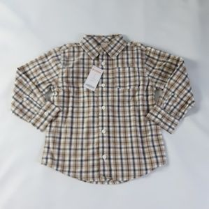 NWT New Gymboree long Sleeve Button Up Plaid Shirt